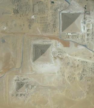 Le piramidi di Giza in Egitto.