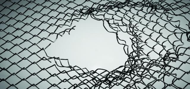 Num pequeno furo na rede passa tanto material?