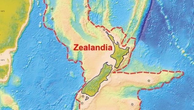 Continentul a fost descoperit sub apele Oceanului Pacific