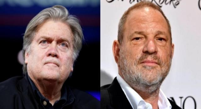 Steve Bannon, Harvey Weinstein, via Twitter