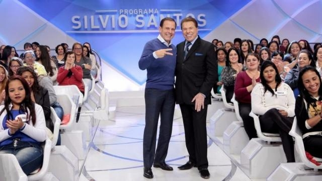 Silvio Santos sugere a Doria ter Bolsonaro como vice em 2018 (foto:programasilviosantos.com.br)