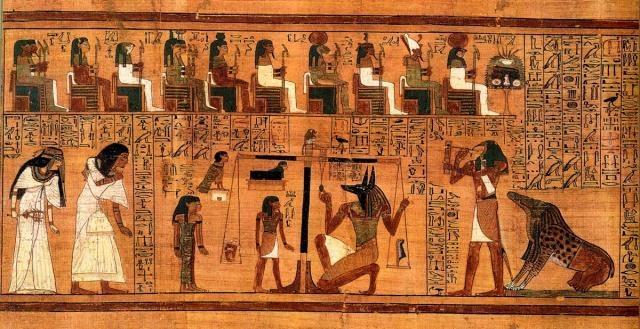 El Karma en Libro de los Muertos Egipcio.