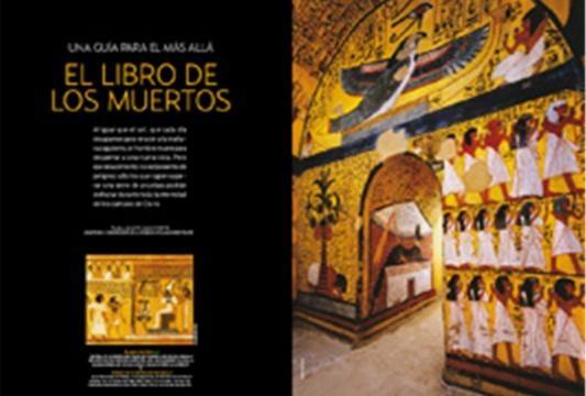 Jeroglíficos que luego formaron el libro, dentro de las pirámides y sarcófagos de los difuntos.