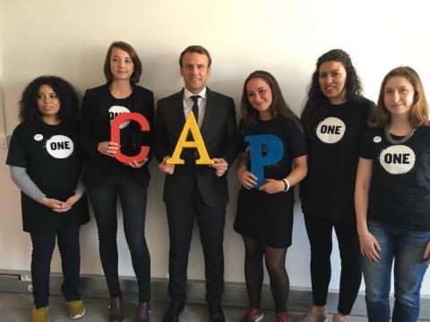 Emmanuel Macron : 5ème candidat Cap de répondre au défi de Romy ... - one.org