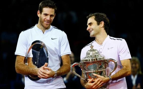 Remise des trophées Del Potro / Federer