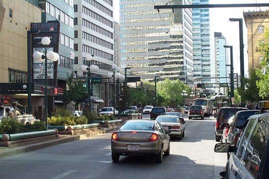 Street scene in Edmonton, Alberta ((Image credit – Censusdata – Wikimedia Commons)