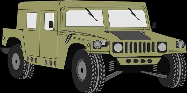 The Humvee, mainstay vehicle of US army Photo -pixabay.com/en/hummer-vehicle-humvee-military-34897/
