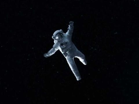 Screen cap from Gravity featuring its special effects