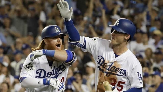 Justin Turner otra vez fue la figura a la ofensiva de los Dodgers. Univisión.com.