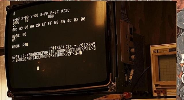 29 czerwca 1975 Wozniak wypróbował swój pierwszy działający prototyp (YouTube screenshot)