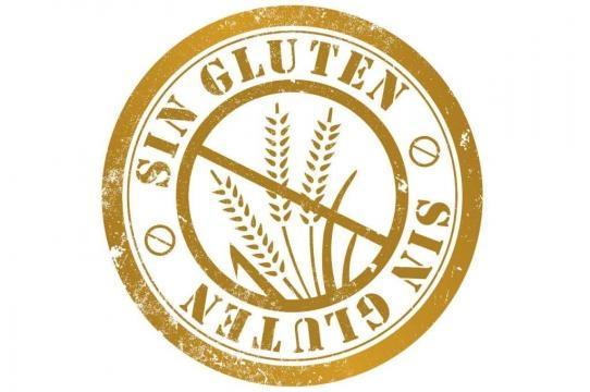 Símbolo oficial de no gluten, la espiga con el tachado.