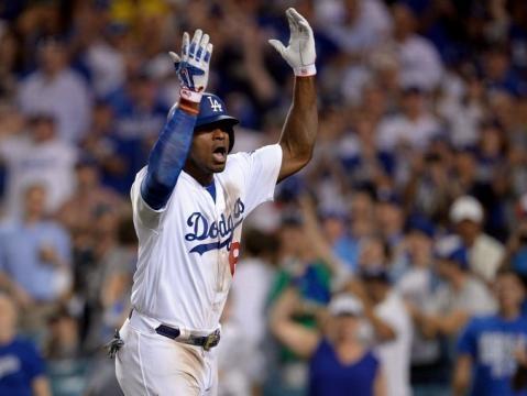 Yasiel Puig sigue siendo un catalizador de los Dodgers en la postemporada. New York Times.com.