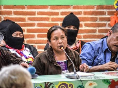 La candidata del EZLN Marichuy tiene el segundo lugar