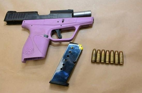 The hot felon was arrested on weapons charges [Image courtesy Fresno Police Department]