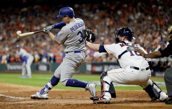 Joc Pederson ha sido el catalizador inesperado de los Dodgers en la Serie Mundial. The Norman Transcript.com.