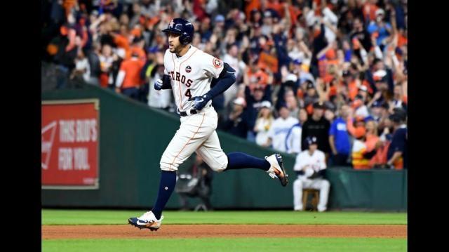 Springer ha sido el más constante en ofensiva para Houston en la Serie Mundial. LA Times.com.