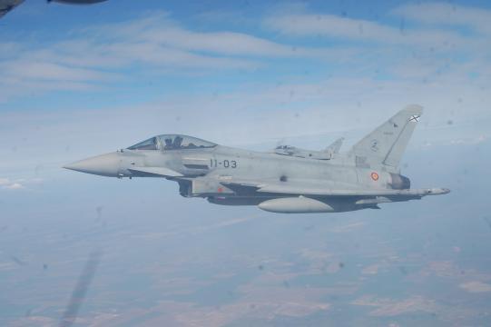 El Eurofighter EF-2000 en servicio en el EDA, idéntico al estrellado