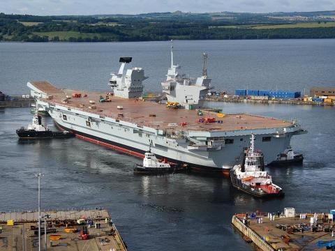 HMS Queen Elizabeth in dock could be rushed into service should hostilities break out - Jeff Head - Flickr