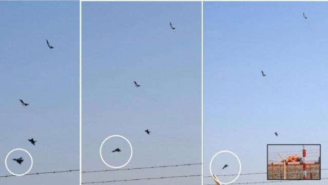 La secuencia del siniestro del Eurofighter, el último avión capota y se estrella contra el suelo