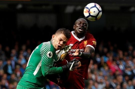 Sadio Mane sent off for Liverpool after landing boot in the face ... - thesun.co.uk