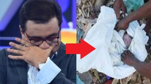 Geraldo Luís acha bebê morto em lixão