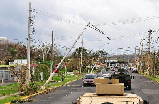 Damages in Puerto Rico after Hurricane Maria. (Image credit:The National Guard/Wikimedia Commons)