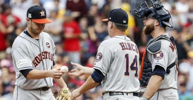 Brad Peacock fue retirado en la 3era y esa decisión le costo a los Astros. Houston Chronicle.com.