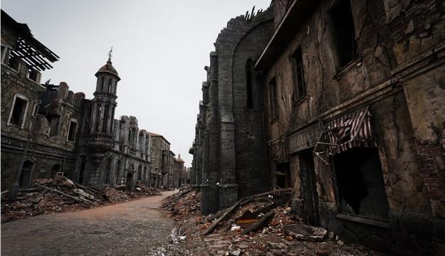 Particolare di un edificio appartenente alla Città fantasma — idealista/news - idealista.it