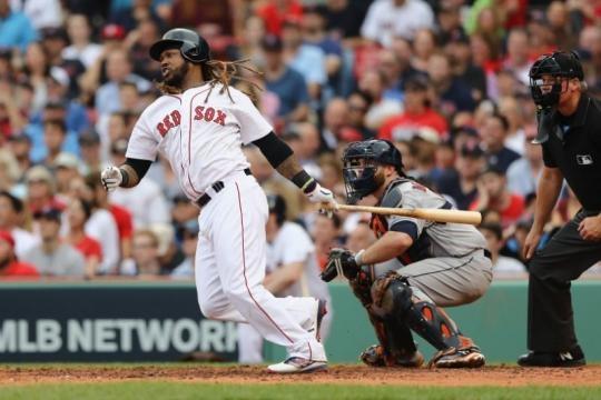 Ramírez tuvo uno de sus mejores partidos como Red Sox desde que llegó en 2015. Yahoo Sports.com.