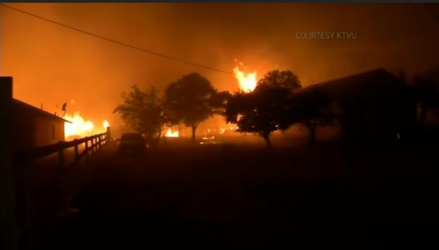 Wine Country Wildfires Torch California Homes - Image - KTVU via Associated Press | YouTube