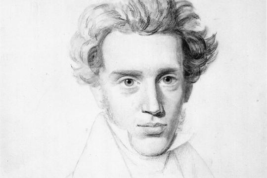 Søren Kierkegaard , filosofo danese padre dell'idea di vita estetica (Google Images)