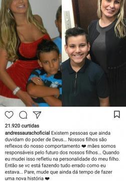 Andressa Urach aconselha as mamães em seu perfil no Instagram