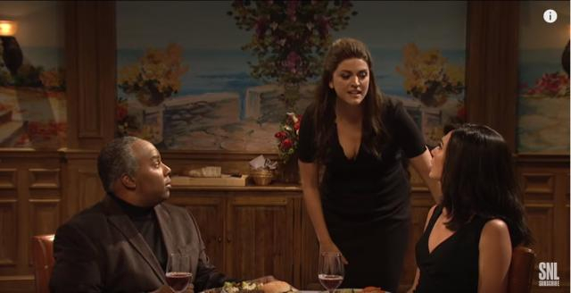 Cecily Strong, Gal Gadot and Keenan Thompson from an SNL skit - YouTube/Saturdaynightlive