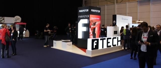 Stand da Farfetch a marcar presença