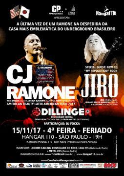 CJ Ramone se apresenta em São Paulo
