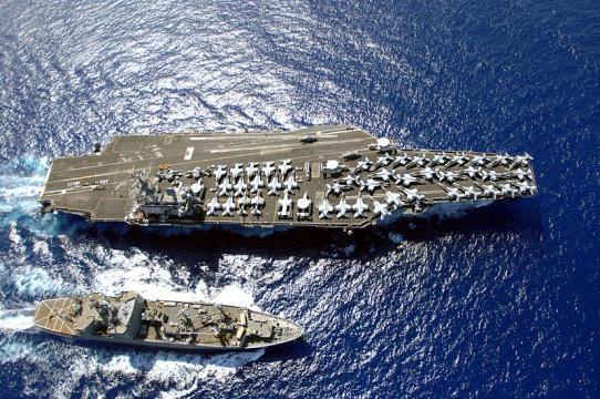 The Nimitz-class aircraft carrier USS Ronald Reagan (Image credit - MCC SPIKE CALL, Wikimedia Commons)