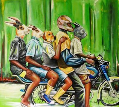 Une des oeuvres du plasticien Camerounais Abdias Ngateu (c) Abdias Ngateu