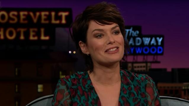 Lena Heady tweets her reaction to Louis C.K.'s public apology [The Late Late Show with James Corden/YouTube screencap]
