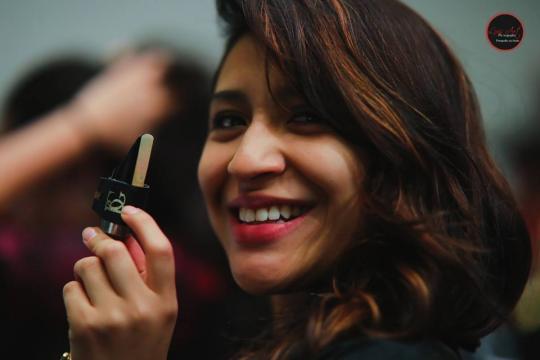 La organizadora del congreso. Foto de Luis Arturo García