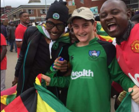 Hope at last for young Zimbabweans celebrating a possible end to the Mugabe regime - Photo C Guthrie