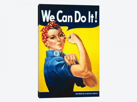 We Can Do It! (Rosie The Riveter) Poster Ar... | J. Howard Miller ... - icanvas.com
