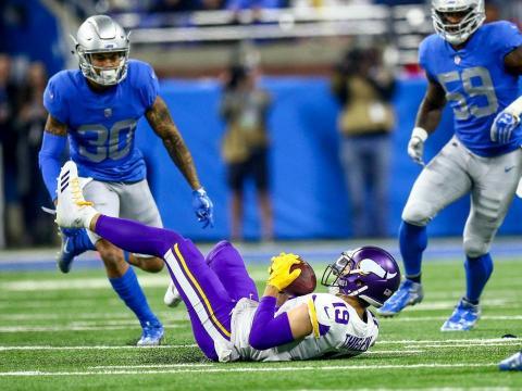 Adam Thielen es segundo en la NFL en yardas por recepción. Vikings.com.