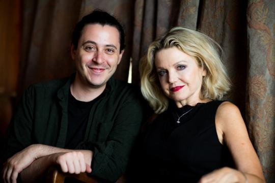 Aaron Mark (left) and 'Squeamish' star Alison Fraser. (Image via Maria Baranova, used with permission)