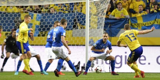 Johansson castigo a una Italia que mereció perder el juego de ida en Solna. Trome.com.