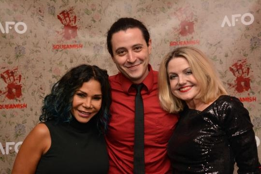 Pictured at the opening night of 'Squeamish' Daphne Rubin-Vega Aaron Mark and Alison Fraser. / Image via Gen Rafter Keddy, used with permission.
