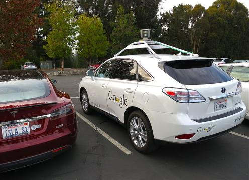 Google's driverless car. - [Image credit – Steve Jurvetson, Wikimedia Commons]