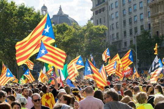 Crowds at a recent Catalan independence rally.