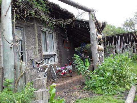 Frente de la familia de 'Tito' Uranga