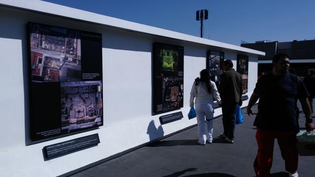 La Plaza Manuel Gamio expone los trabajos arqueológicos.