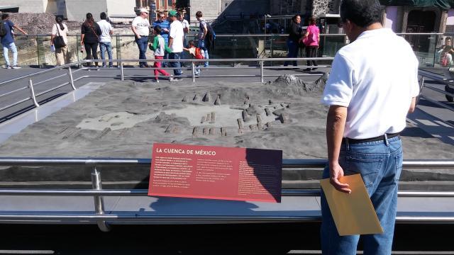 Las maquetas de Tenochtitlan reubicadas.